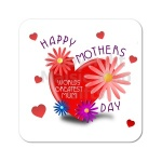 Worlds Greatest Mum ~ Happy Mothers Day Coaster