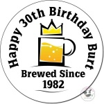 Brewed Since ... Personalised Birthday Coaster