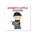 Mummys Little Soldier Personalised Coaster