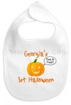 Personalised 1st Halloween Pumpkin Baby Bib
