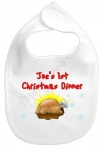 Baby's 1st Christmas Dinner Personalised Bib